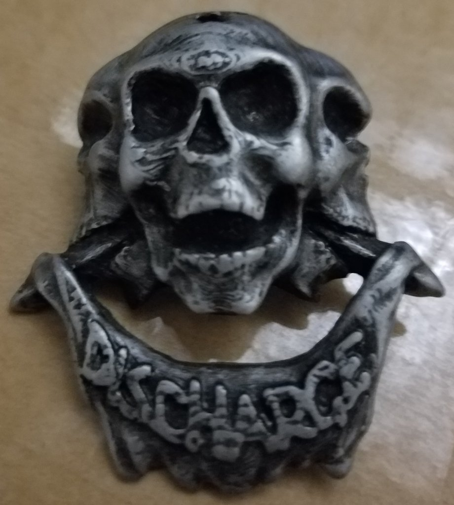 Discharge - Skulls - Metal Badge