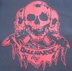DISCHARGE - Skulls (Red on Black) - Back Patch
