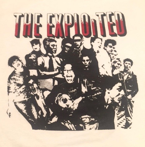 EXPLOITED - White - Back Patch
