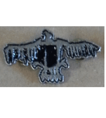 His Hero is Gone - Metal Badge