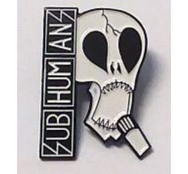 Subhumans - Skull - Metal Badge