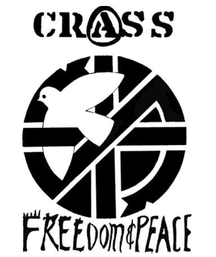 CRASS - Freedom & Peace Dove - Patch