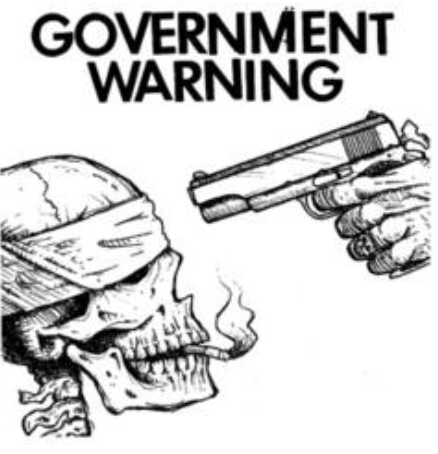 GOVERNMENT WARNING - Patch