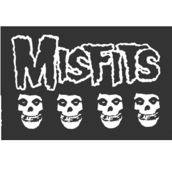 MISFITS - 4 Skulls - Back Patch
