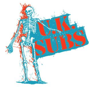 UK SUBS - Skeleton - Back Patch