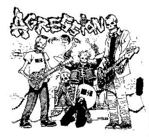 AGRESSION - Band - Back Patch