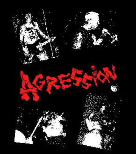 AGRESSION - Red Band - Back Patch