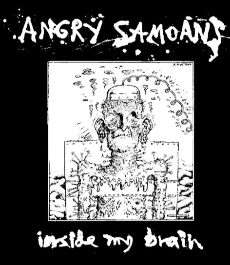 ANGRY SAMOANS - Inside My Brain - Back Patch