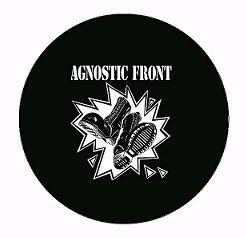 Agnostic Front - Boots (white on black)  - Button