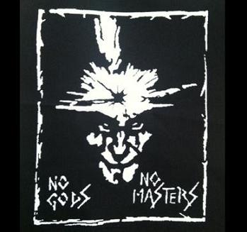 AMEBIX - No Gods No Masters (white name) - Back Patch