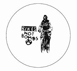 Bikes Not Bombs - Bike - Button