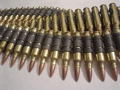 .308 Brass Bullet Belt With Copper Tips