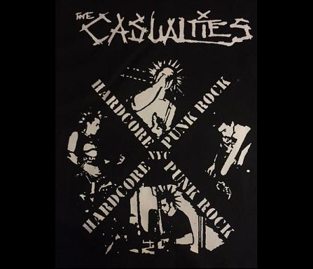 Casualties - Hardcore Punk - Back Patch