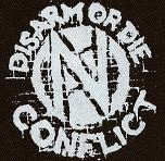 CONFLICT - Disarm or Die - Back Patch