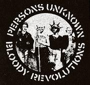 CRASS - Persons Unknown (white on black) - Patch