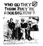 CRASS - Who Do They Think They're Fooling - Back Patch