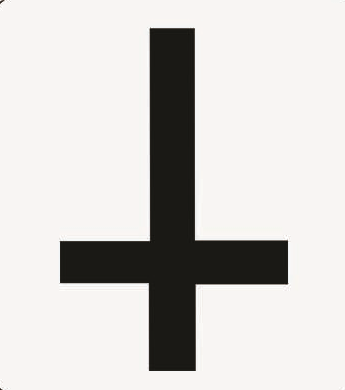 Cross upside down - Button