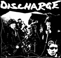 DISCHARGE - Singing - Back Patch
