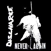 DISCHARGE - Never Again - Back Patch