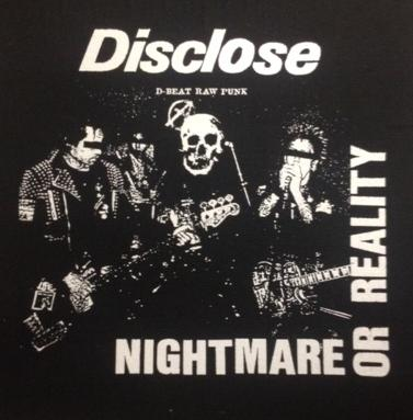 DISCLOSE - Nightmare or Reality - Back Patch
