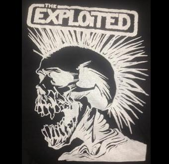 EXPLOITED - Skull - Back Patch