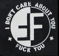 FEAR - I Don't Care About You - Patch
