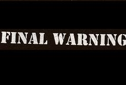 FINAL WARNING - Patch