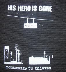 HIS HERO IS GONE - Monuments - Back Patch