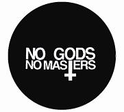 No Gods No Masters - Cross - Button