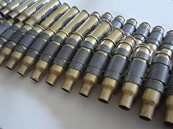 .308 Brass Bullet Belt With No Tips