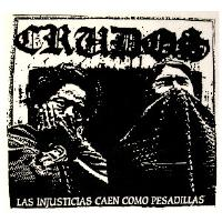 LOS CRUDOS - Las Injusticias - Back Patch
