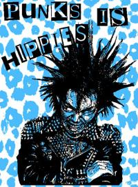 Gism - Punks Is Hippies - Poster