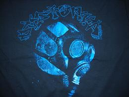 Dystopia - World Gas Mask (Blue) - Shirt