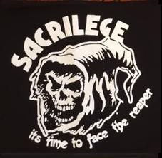 SACRILEGE - Time To Face The Reaper - Back Patch