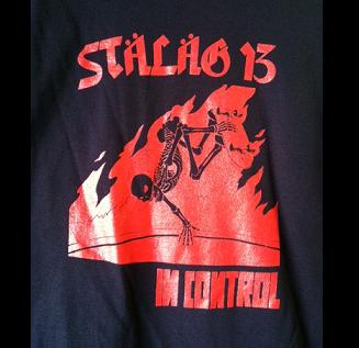 Stalag 13 - In Control (Red on Black) - Shirt