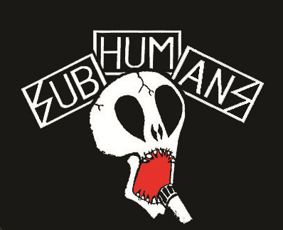 Subhumans - Red Mouth Skull - Button
