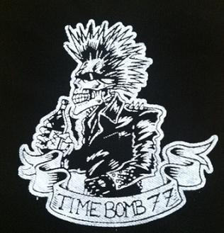 TIMEBOMB 77 - Skeleton Punk (white on black) - Patch