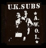 UK SUBS - Awol - Patch