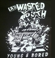 WASTED YOUTH - Young And Bored - Patch