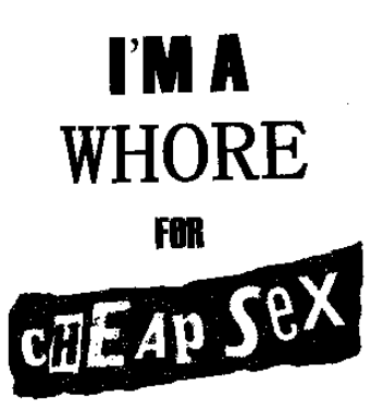 CHEAP SEX - Whore - Patch