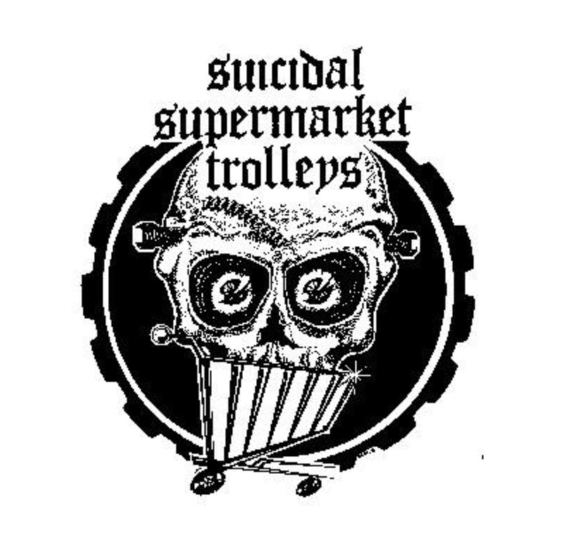 SUICIDAL SUPERMARKET TROLLEYS - Skull - Patch