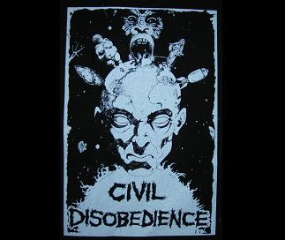 CIVIL DISOBEDIENCE - Back Patch