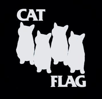 Cat Flag - Black - Shirt