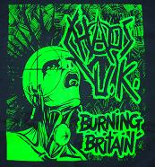 CHAOS U.K. - Burning Britain - Back Patch