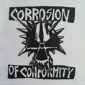 CORROSION OF CONFORMITY - (black on white) - Patch