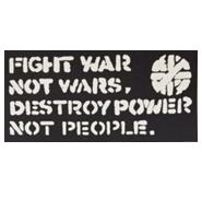 Crass - Fight Wars - Sticker