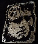 Discharge - A + Face - Metal Badge