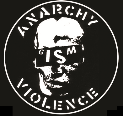 GISM - Anarchy Violence Skull - Button