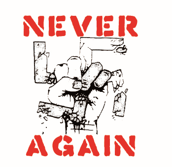 Never Again - Button
