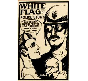 White Flag - Police Story - Sticker